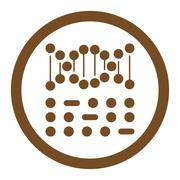Stock Illustration of Genetic Code Rounded Vector Icon