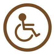 Handicapped Rounded Vector Icon - stock illustration