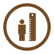 Stock Illustration of Height Meter Rounded Vector Icon
