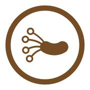 Infection Microbe Rounded Vector Icon Stock Illustration