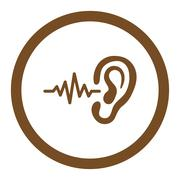 Listen Rounded Vector Icon - stock illustration