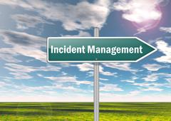 Stock Illustration of Signpost ncident Management