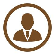 Manager Rounded Vector Icon Stock Illustration