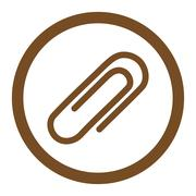 Paperclip Rounded Vector Icon - stock illustration