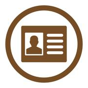 Stock Illustration of Patient Account Rounded Vector Icon