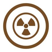 Radiation Danger Rounded Vector Icon - stock illustration