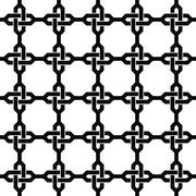 Stock Illustration of Monochrome seamless chain pattern