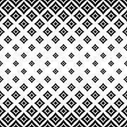 Seamless monochrome angular curved square pattern Stock Illustration