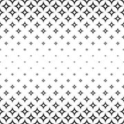 Stock Illustration of Monochrome seamless curved star pattern