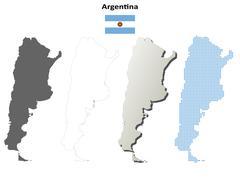 Argentina outline map set Piirros