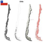 Chile outline map set - stock illustration
