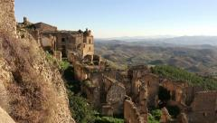 -CRACO- abandoned houses in as ghost town in Italy - stock footage