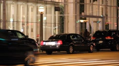 Luxury Cars Wait outside Office Building Stock Footage