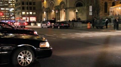 Town Cars in New York City Stock Footage