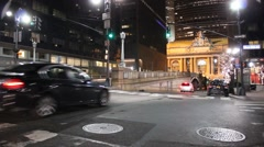 Traffic on Lower Park Avenue at Night Stock Footage