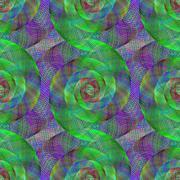 Wired fractal spiral pattern - stock illustration