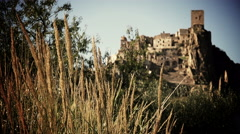 the ghost town of Craco, Italy: WMF watch list of the World Monument fund - stock footage