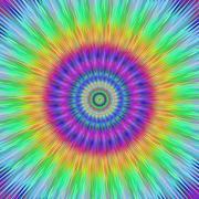 Vibrant burst fractal design - stock illustration