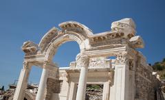 Temple of Hadrian in Ephesus Ancient City - stock photo
