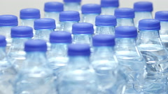 Plastics Bottles Abstract Background Stock Footage