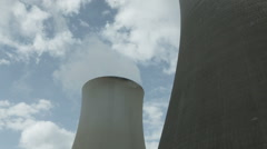 Stock Video Footage of Coal-fired cooling towers