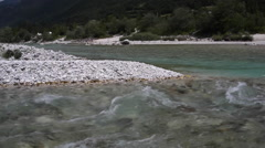 View of the Soca river Stock Footage