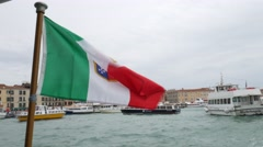 Water Taxi Italian Flag - stock footage