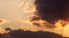 Afternoon Clouds timelapse disappearance Stock Footage