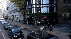 Coach and horses - Beautiful Pub in London - Extreme Slow Motion Stock Footage