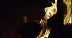 Slow motion fire burning - stock footage