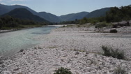 Stock Video Footage of View of the Soca river