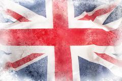 Grunge Union Jack flag - stock photo