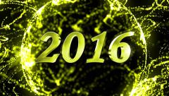 01 2016 in particles 4k PS F D Stock Footage