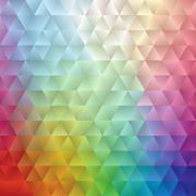 Abstract Spectrum Triangle II - stock illustration