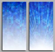 Abstract Blue Triangle Background - stock illustration