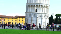 Leaning Tower in the Square of Miracle - stock footage
