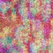 Abstract Colorful Triangle Stock Illustration
