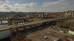 Aerial Shot of I279. - stock footage