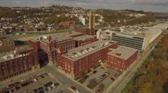 Aerial Closeup of the H.J. Heinz Factory Stock Footage