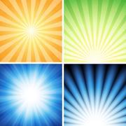 Radiance Background Set Stock Illustration