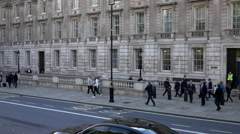 Politicians walking at Whitehall London - Extreme Slow Motion - stock footage
