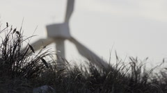Windmill at North Sea Denmark - stock footage