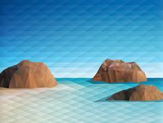 Triangular Scene Background - stock illustration