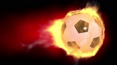 Soccer Ball On Fire Loop - stock footage