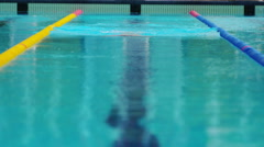 Breaststroke Swimming Technique done by a Professional Swimmer Stock Footage