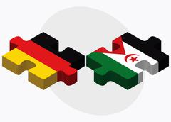 Stock Illustration of Germany and Western Sahara Flags