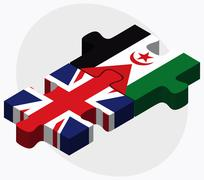 Stock Illustration of United Kingdom and Western Sahara Flags