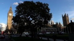 Westminster Palace and Parliament Square - stock footage