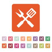 Stock Illustration of The bbq icon. Barbecue and kitchen, cook symbol. Flat Vector