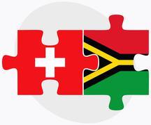 Switzerland and Vanuatu Flags Stock Illustration